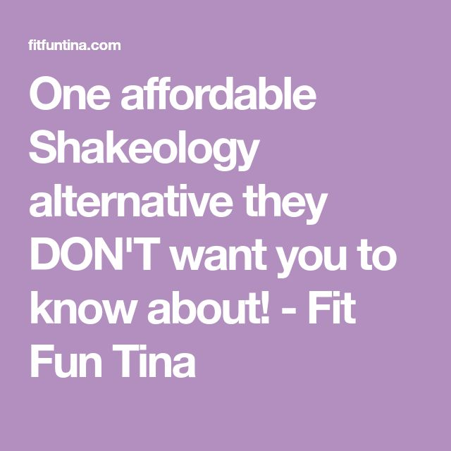 One affordable Shakeology alternative they DON'T want you to know about! - Fit Fun Tina