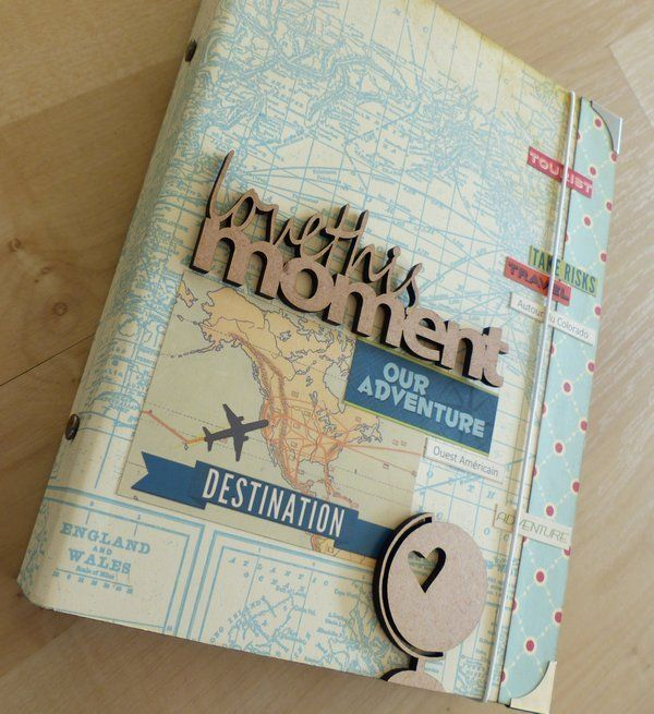 Map covered travel journal