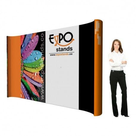 ExpoStands - Backing  ES-BK-H-3 es un muro display portátil, muy liviano, fácil de armar y con posibilidad de exhibir su imagen 360 grados (por sus 4 caras). Además es modular y escalable.