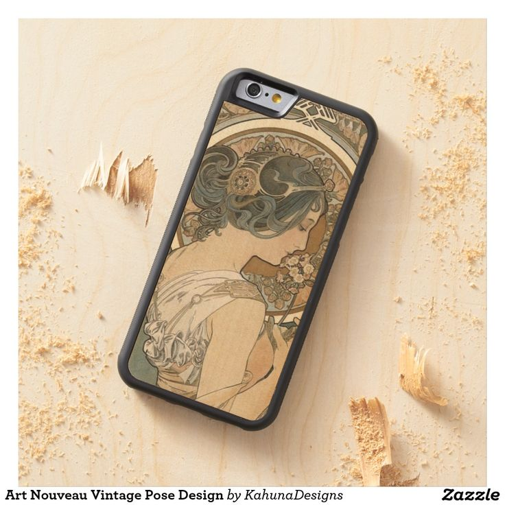 Art Nouveau Vintage Pose Design Maple iPhone 6 Bumper