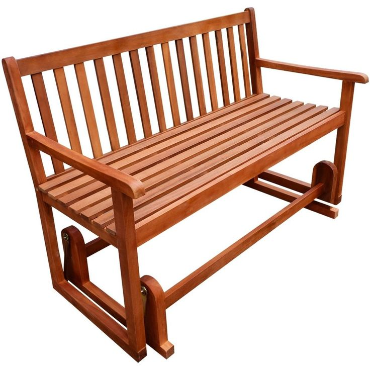 You will enjoy swaying on the bench with the summer breeze. Finished with a light oil coating, this porch swing bench is made of high-quality acacia wood, a tropical hardwood, which is weather-resistant and highly durable. | eBay!