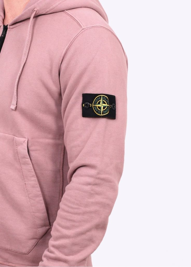 Stone Island Garment Dyed Hooded Sweater - Antique Rose