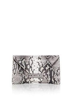 VBH - Connor Python & Ostrich Envelope Clutch