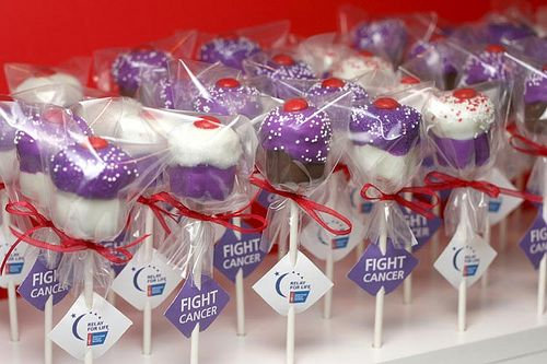 Relay for life cake pops!