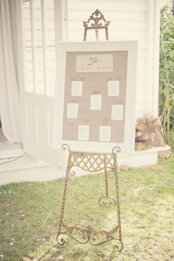 rustic-chic seating chart // photo by Katy Lunsford