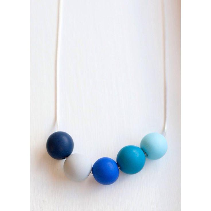 $36 Seaside Bubble Necklace by Ashloc Designs on Handmade Australia www.hand-made.com.au/ashlocdesigns