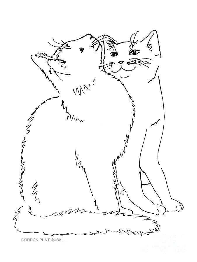 Contour Line Drawing Technique : Best images about cat embroidery on pinterest
