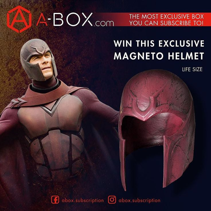 EPIC GIVEAWAY  @abox.subscription has teamed up with me to run this awesome giveaway where you can win this exclusive LIFE-SIZE MAGNETO HELMET! The rules are simple!  RULES  1. FOLLOW @abox.subscription and LIKE this same post  2. COMMENT & TAG find this post and comments why you like magneto and tag a friend  Winner to be chosen Friday April 14th  #marvelcomics #Comics #marvel #comicbooks #avengers #avengersinfinitywar #xmen #magneto #daysoffuturepast #wolverine #cyclops #uncannyxmen…