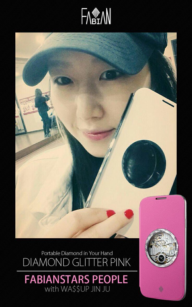 FABIANSTARS PEOPLE with WA$$UP JIN JU  Diamond Glitter Round Pink