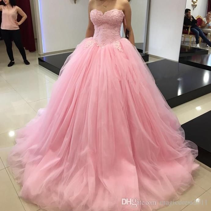 Princess Ball Gown Sweet 16 Party Quinceanera Dresses Pink Tutu Skirt Sweetheart Corset Ruffles Plus Size 2016 Girls Debutante Prom Dresses Quinceanera Dress Formal Gowns Sweet 16 Dresses Online with $133.0/Piece on Magicdress2011's Store | DHgate.com