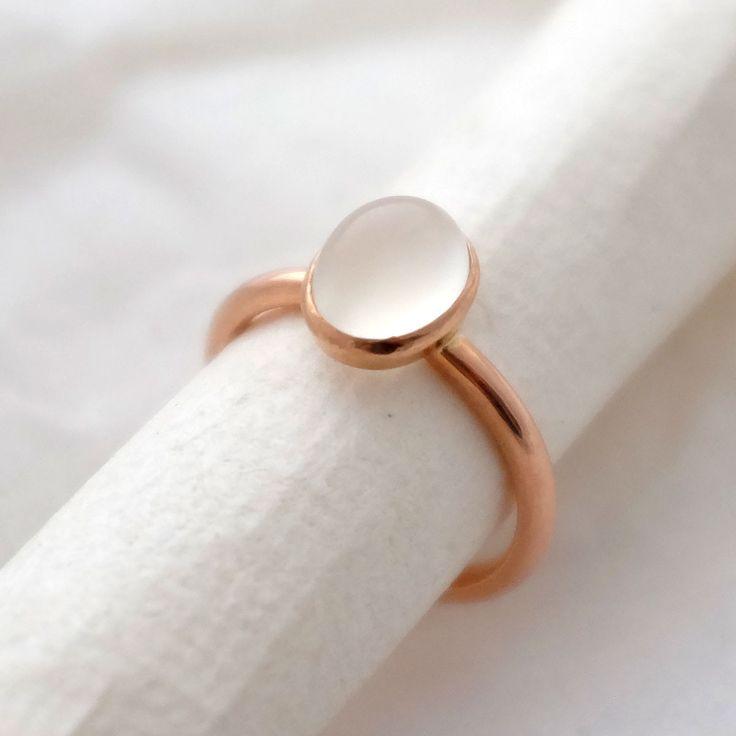 Bespoke Rose Gold Moonstone Ring