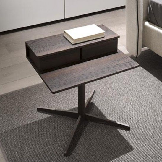 Silo #bedside / #coffeetable made of wood with two #drawers designed by #StudioKairos for #Lema