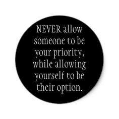 Priority / Option