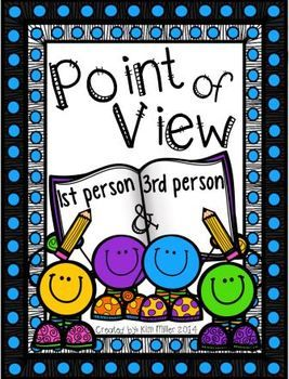 3 Point of View Posters (color & b/w), 4 pages of short stories for students to practice finding the POV, What's Your Point of View activity for students to write two stories demonstrating the POV in 1st and 3rd person, Find the Point of View graphic organizer for students to use as they examine picture books for the POV, Bookmarks for students with clue words for finding the POV (color & b/w) Answer key included!  http://www.teacherspayteachers.com/Store/Kim-Miller-24