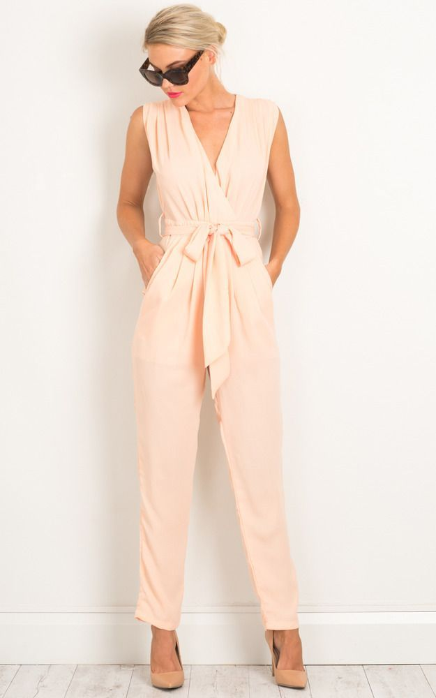 Workaholic Jumpsuit In Blush Produced 1