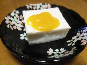 ピーナッツ豆腐酢味噌乗せ♪
