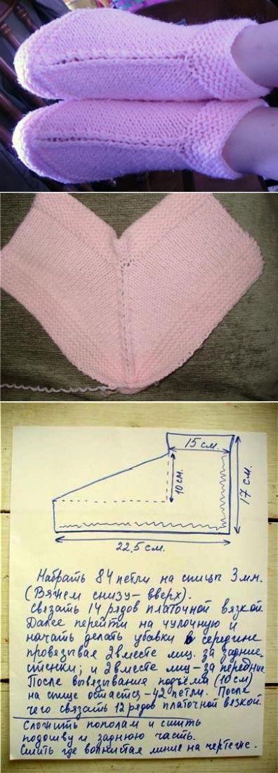Вязание спицами перекрученной