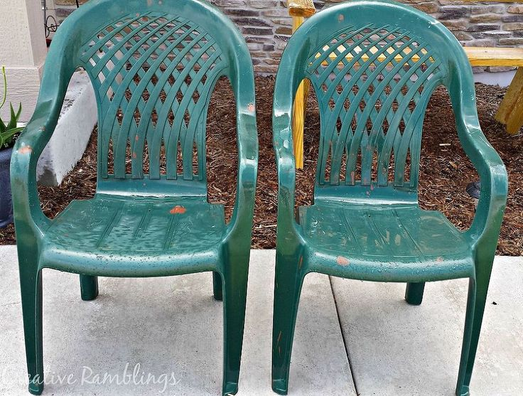 Painted Plastic Chairs U0026 Mini Deck Makeover Part 43