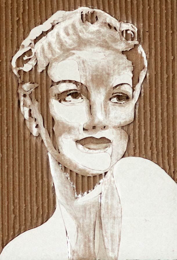 CARDBOARD PORTRAITS GILES OLDERSHAW 12
