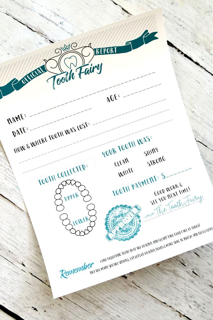 tooth fairy printable certificate - Free Printable Letter from the Tooth Fairy…