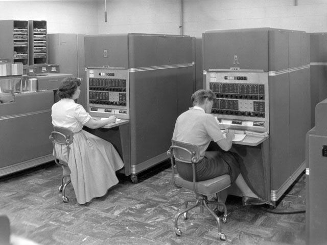 The first mass-produced computer ever, the IBM 650 (1953-1969).