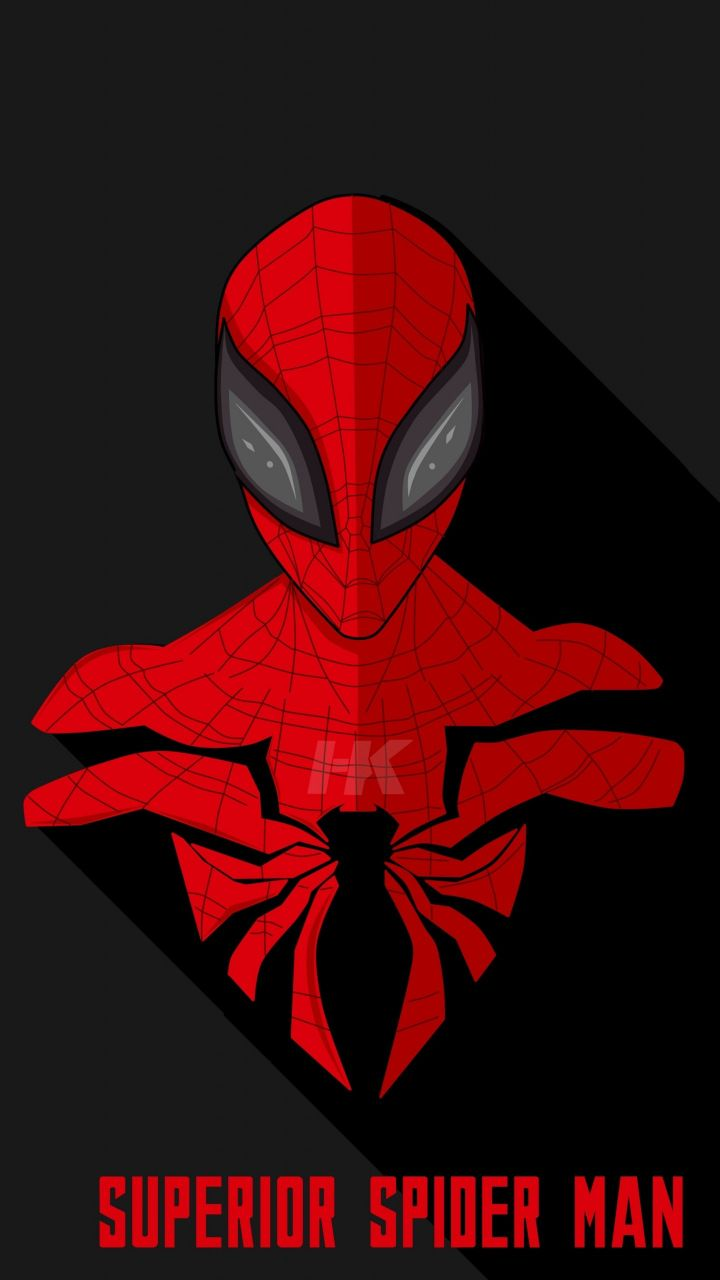 64146dca Superior, Spider-man, mimimalist, artwork, 720x1280 wallpaper ...