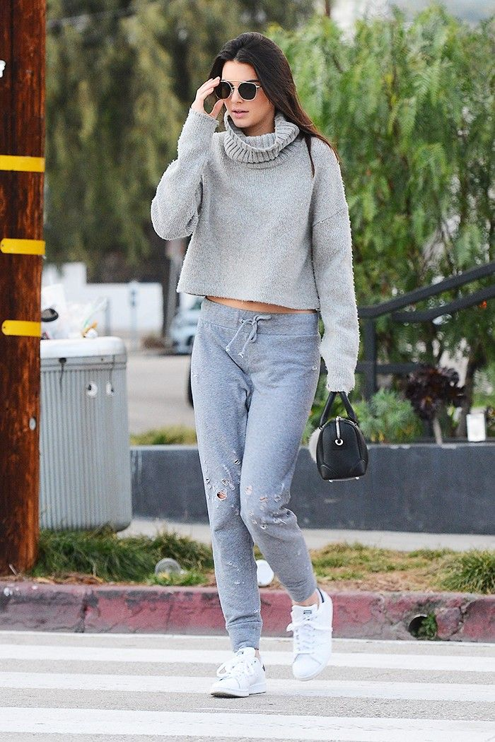 Only Kendall Jenner Could Pull Off Sweatpants This Way via @WhoWhatWear