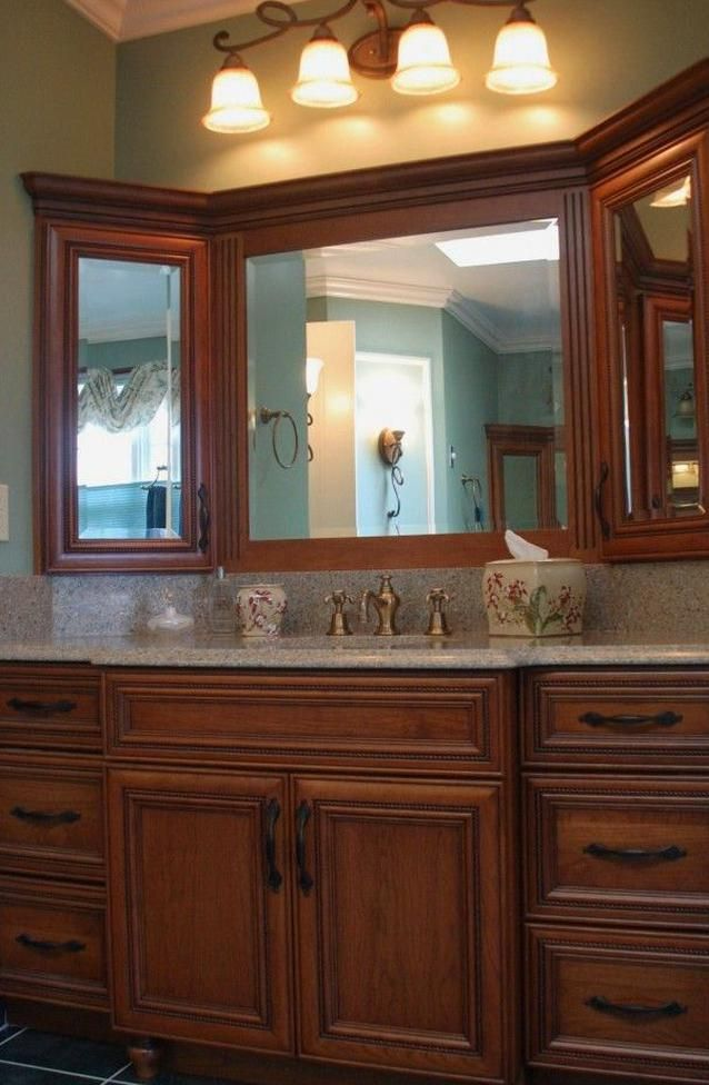 Maximize Storage Master Bathroom Maple Vanity With Built In Corner Medicine Cabs Rustic Bathroom Shelves Small Bathroom Remodel Bathroom Remodel Master