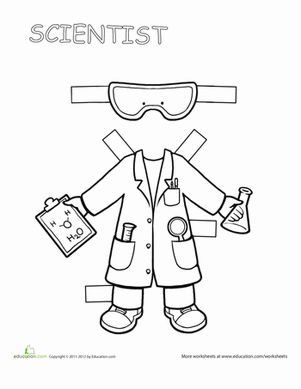 "If your child loves to ask ""why""?, she'll love this scientist paper doll."