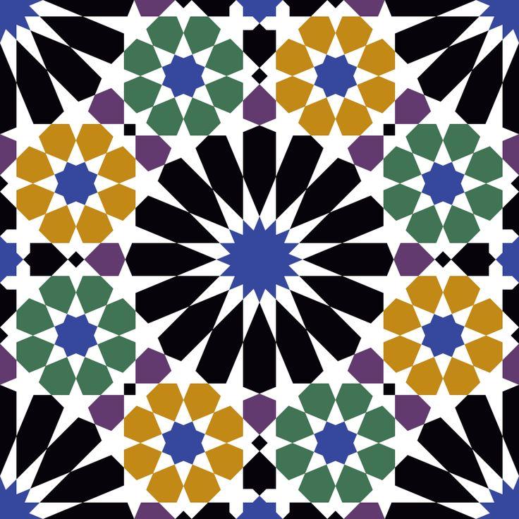 Patrón árabe del castillo de la Alhambra. En Vector e imagen normal. Descarga gratis.