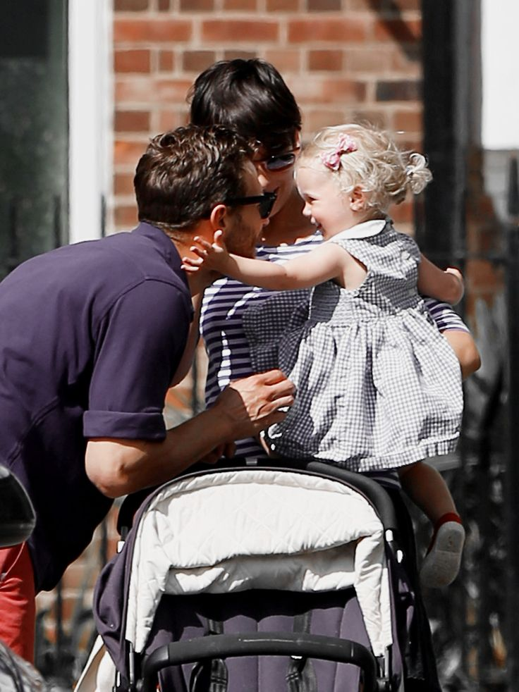 July 11: Jamie Dornan and Amelia spotted in London (HQs)with Dulcie