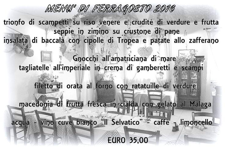Amici, Lunedi 15 Agosto vi aspettiamo al Giusto di Sale per una scoppiettante serata di Ferragosto insieme. Si cena sotto la pergolina con le specialità di