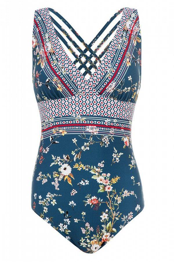 NEW Anthropologie Sun Seeker One Piece Swim Suit Size 4