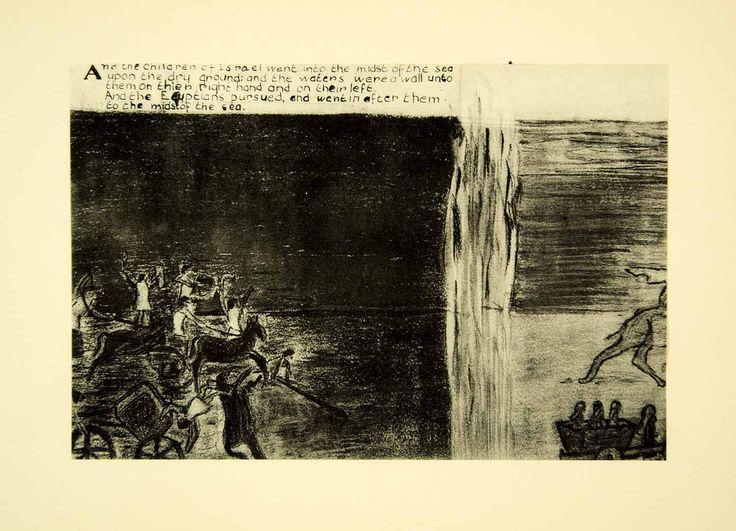 1931 Collotype Egyptian Israelite Moses Red Sea Joan Manning-Sanders