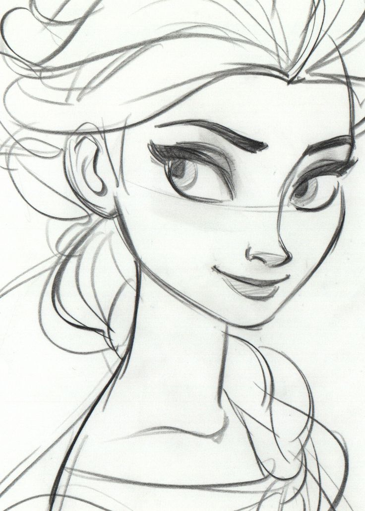 drawings of disney characters frozen - Google Search