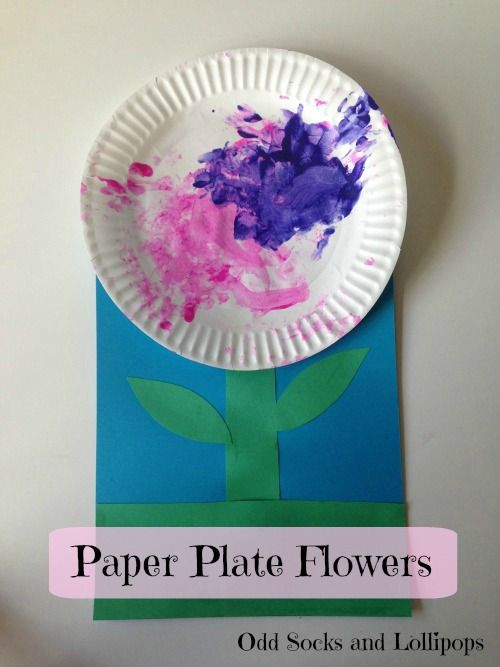 Paper Plate Flowers - Last week Boo and I had a go at crafting some paper plate flowers...