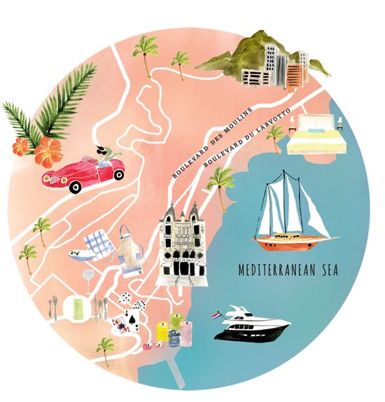 Style Destination Monte Carlo Monaco Maps Monte Carlo Monaco