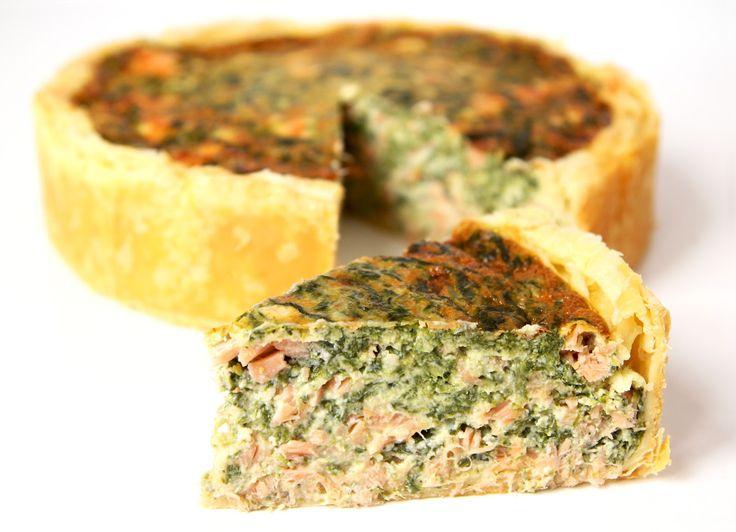 La cuisine de Bernard quiche épinards et saumon fumé
