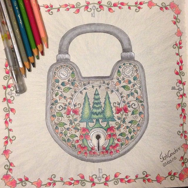 Floresta Encantada/ Cadeado /Johanna Basford