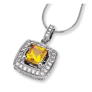 14kw Emma Grace Princess Cultured Diamond 16in Pendant - SalmaJewelry.com  $7,943.14