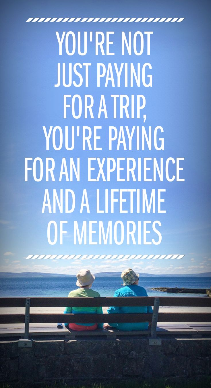 Awesome memories are the best souvenir you can bring back from your trip.
