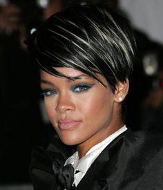 silver highlights in dark hair