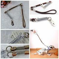 BIG arnés Perro Cuerda con el tamaño de color marrón de cuero genuino 1 * Cuerda 73cm BIG DOG mascota Caminar formación correa para perro PQ11