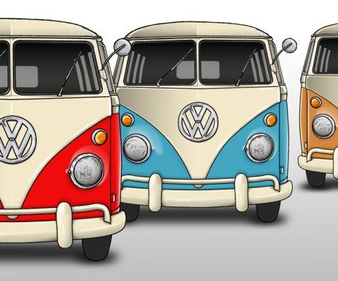 dibujo de furgoneta volkswagen - Buscar con Google