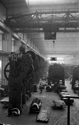 Scene at Volkswagens main plant, Wolfsburg, Germany, July 1951.