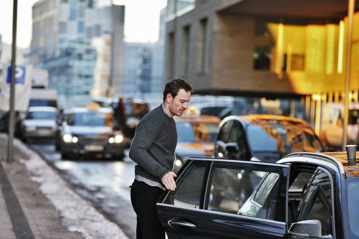 "Michael Fassbender filming ""The Snowman"" upcoming 2017 film"