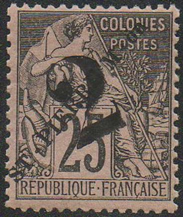 A 1891 postage stamp from Saint Pierre and Miquelon