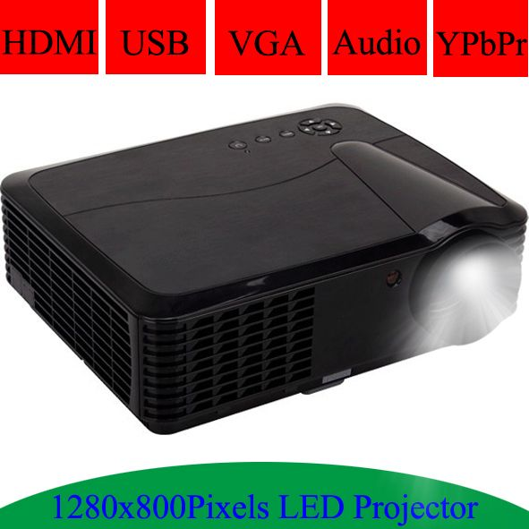 Multimedia HDMI USB Projector 1280x800Pixels Resolution Support Spanish Portuguese LED Lamp 720P Beamer Video Projecteur Digital Guru Shop