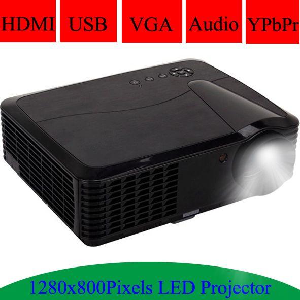 Multimedia HDMI USB Projector 1280x800Pixels Resolution Support Spanish Portuguese LED Lamp 720P Beamer Video Projecteur Digital Guru Shop