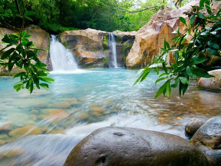 Beautiful mini waterfalls at Rincon de la Vieja National Park